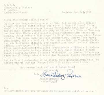 1968 Einladung