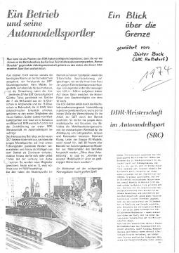 1974 DDR Meisterschaft